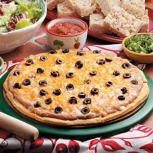 Mexican Dip Pizza with Cornbread Crust Recipe