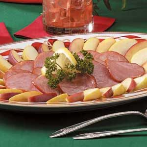 Canadian Bacon With Apples Recipe