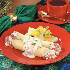 Chicken Cordon Bleu Crepes Recipe