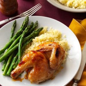 Glazed Cornish Hens Recipe