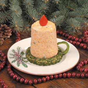 Christmas Candle Cheese Spread Recipe