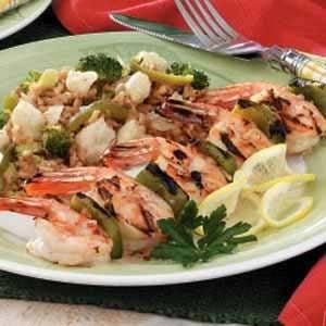 Fiery Skewered Shrimp Recipe