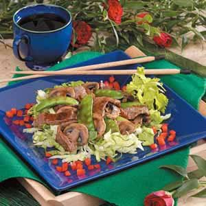 Stir-Fried Beef on Lettuce Recipe