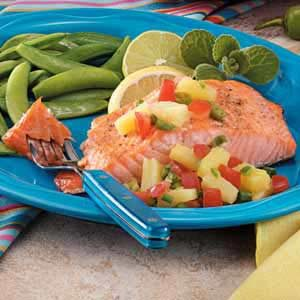 Salmon with Ginger Pineapple Salsa Recipe