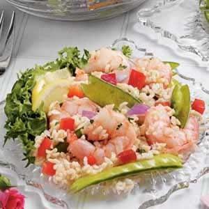Sesame Shrimp Rice Salad Recipe