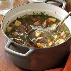 Steak 'N' Vegetable Soup Recipe