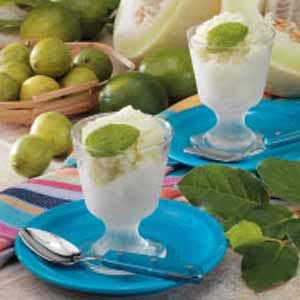 Lime Honeydew Sorbet Recipe