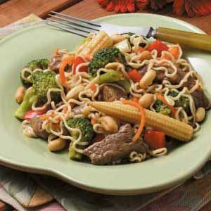 Beef with Ramen Noodles Recipe