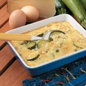 Zucchini-Onion Casserole Recipe