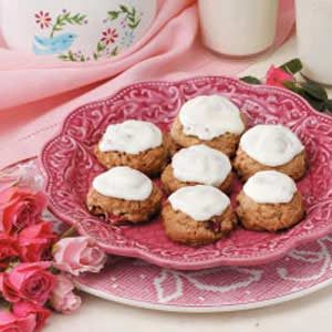 Frosted Rhubarb Cookies Recipe