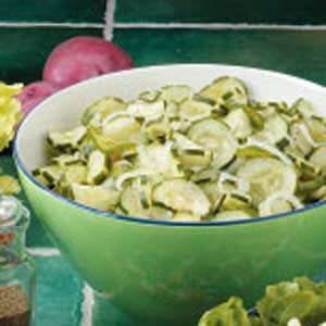 Onion Cucumber Salad with Vinegar Dressing Recipe