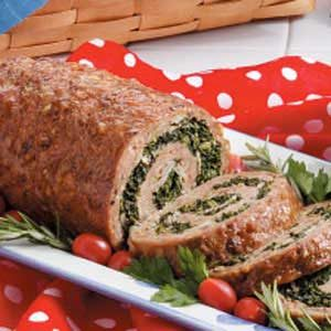 Spinach-Filled Turkey Roll Recipe