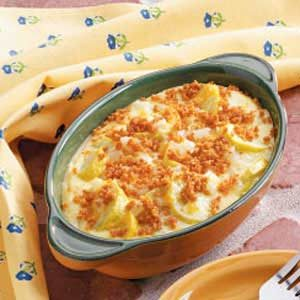 Cheesy Summer Squash Caserole Recipe