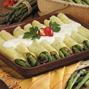 Asparagus Sausage Crepes
