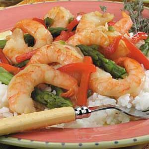 Lime Shrimp with Asparagus Recipe