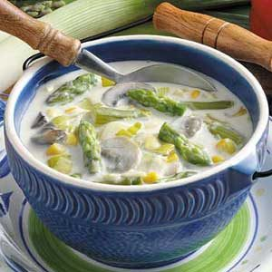 Asparagus Leek Chowder Recipe