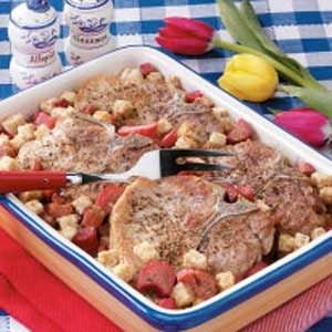 Rhubarb Pork Chop Bake Recipe