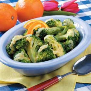 Quick Broccoli with Orange Sauce Recipe