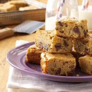 Chippy Blond Brownies Recipe