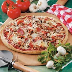 Double Sausage Pizza Recipe