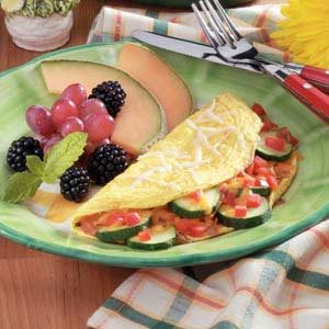 Veggie Cheese Omelet Recipe