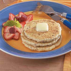 Nutty Buttermilk Oat Pancakes Recipe