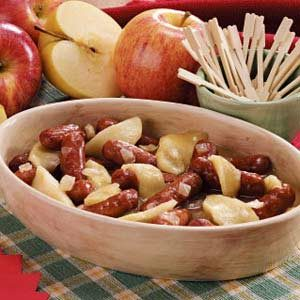 Apple Onion Sausage Appetizers Recipe