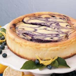 Contest-Winning Blueberry Swirl Cheesecake Recipe