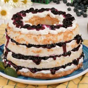 Blueberry Angel Torte Recipe