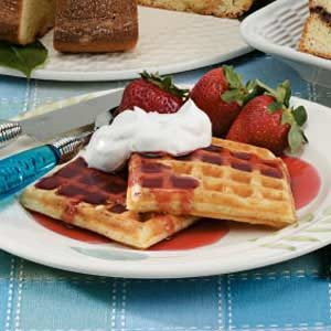 Golden Buttermilk Waffles Recipe