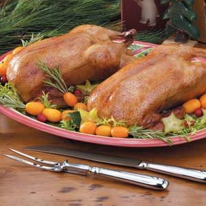 Cranberry-Orange Roast Ducklings Recipe