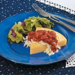 Sausage-Topped Polenta Recipe