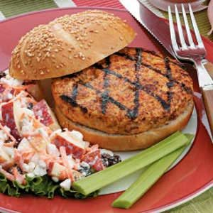 Grilled Turkey Vegetable Burger Recipe