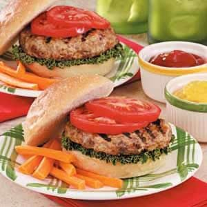 Garlic-Onion Turkey Burgers Recipe