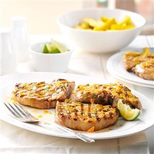 Lime-Glazed Pork Chops Recipe