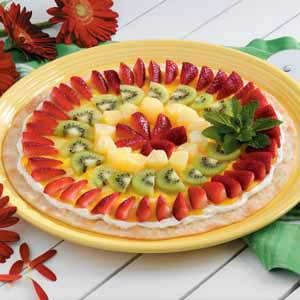 Vanilla Fruit Pizza Recipe