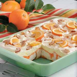 Orange Angel Food Cake Dessert