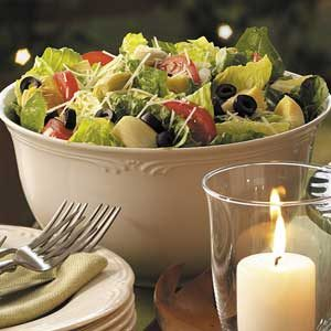 Lemon Artichoke Romaine Salad Recipe