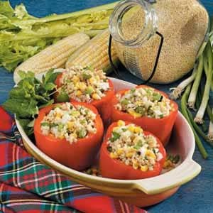 Millet-Stuffed Red Peppers Recipe