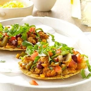 Tangy Turkey Tostadas Recipe