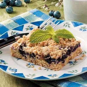 Blueberry Oat Dessert