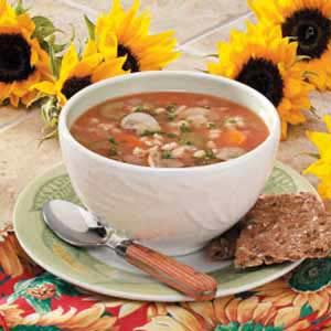 Savory Mushroom-Barley Soup Recipe