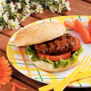 Asian-Style Hamburgers Recipe