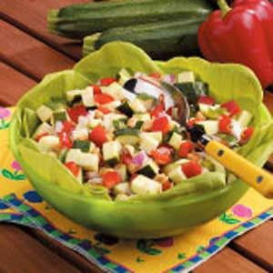 Heavenly Zucchini Salad Recipe