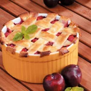 Deep-Dish Plum Cobbler Recipe