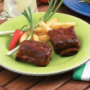 Sweet and Spicy Barbecued Short Ribs Recipe