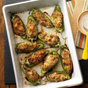 Sausage-Stuffed Jalapenos Recipe