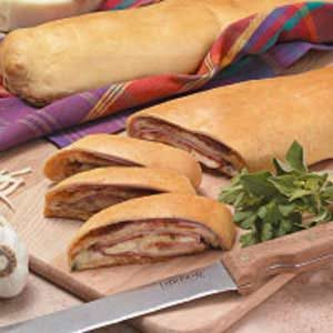 Three-Meat and Cheese Stromboli Recipe