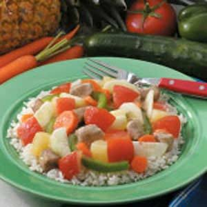 Colorful Pineapple Pork Recipe