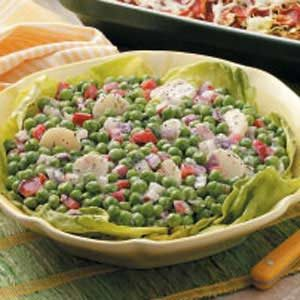 Light and Crunchy Pea Salad Recipe